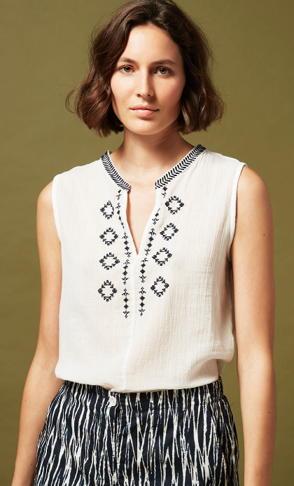 Hays Embroidery Top