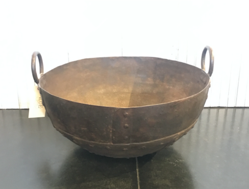 Indian Vintage Medium Steel Cooking Pot