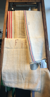Found Linen Grain Sack, multi