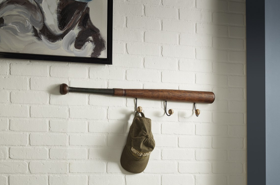 Imax Home Slugger Baseball Wall Decor Hooks