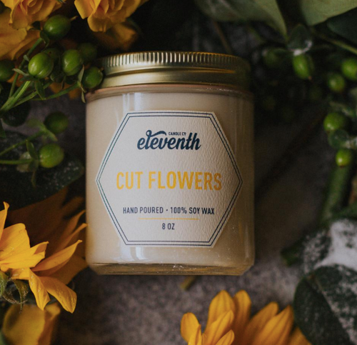 Cut Flowers Candle 8