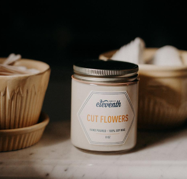 Cut Flowers Candle 8oz