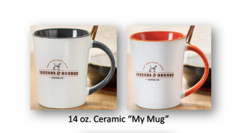 "Grounds & Hounds Ceramic ""My Mug"""