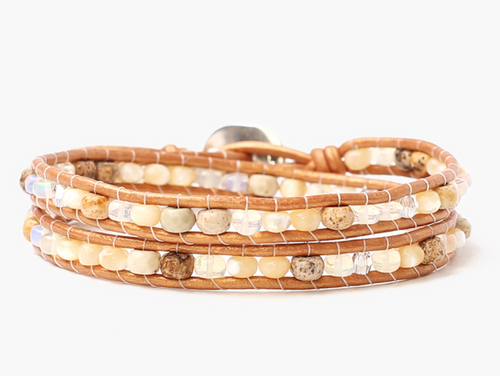 Chan Luu Opal Mix Double Wrap Bracelet