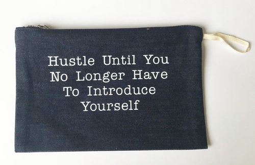 Stash Style Zipper Pouch- Hustle