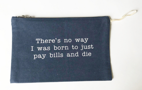 Stash Style Zipper Pouch- Pay Bills