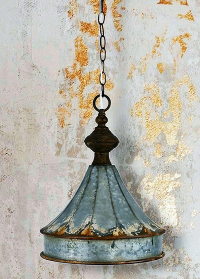 Distressed Metal Cupola Pendant
