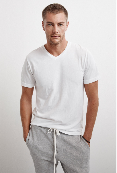 Velvet by Graham & Spencer Samsen Whisper Classic V-neck Tee