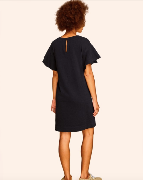 Combed Cotton Flutter Sleeve Dress