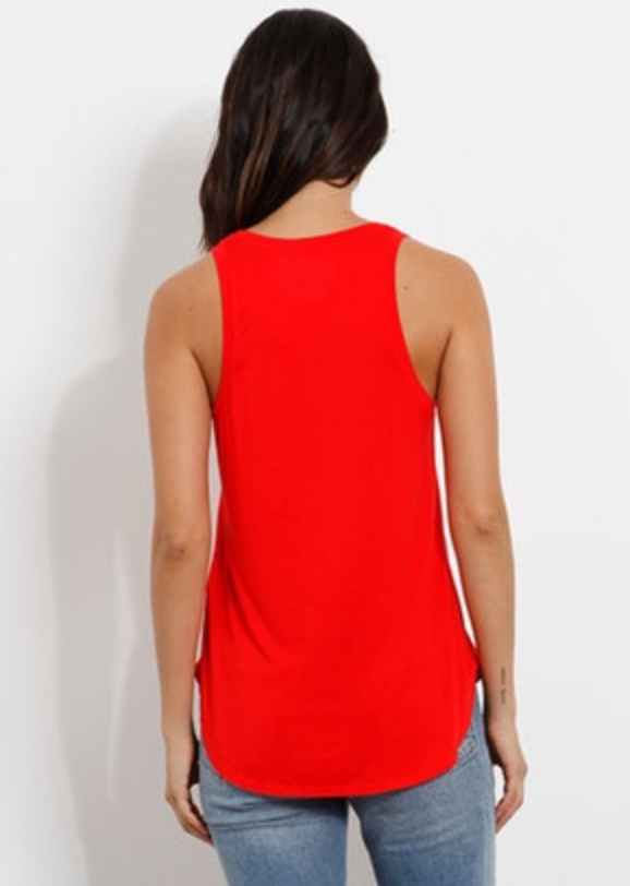 Long Jersey Tank - Red Chilli