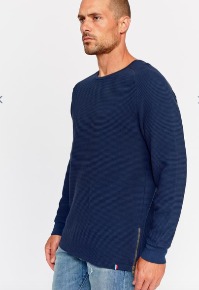 Ottoman Side Zip Pullover