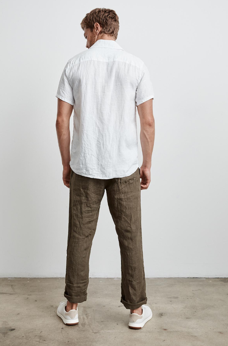 Velvet by Graham & Spencer Mackie Linen Button Down