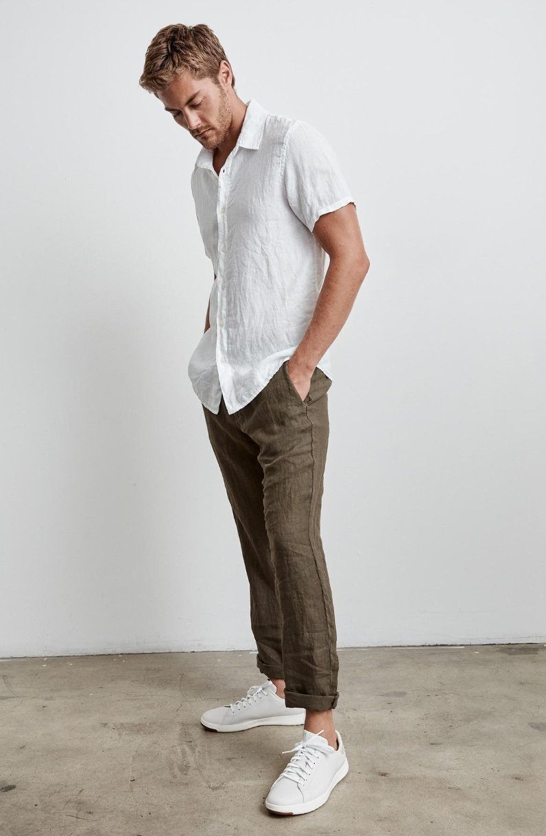 Mackie Linen Button Down