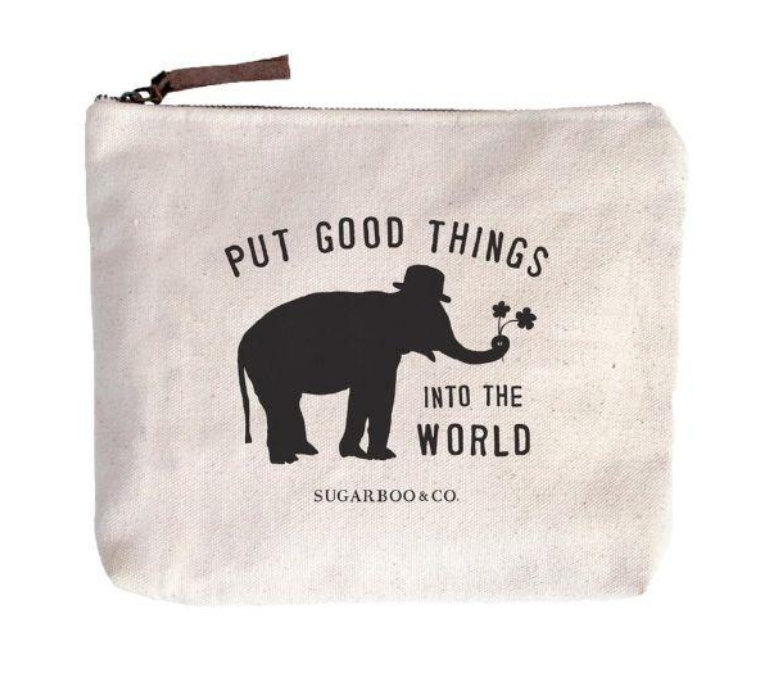 Put Good Things Into The World Canvas Zip