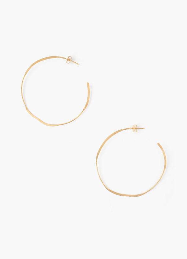Large Yellow Gold Earrings