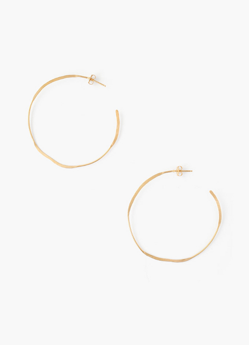Chan Luu Large Yellow Gold Earrings