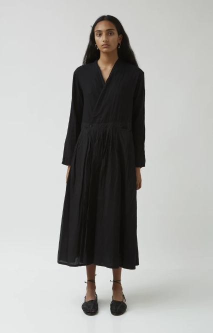 Japanese Sake Pleated Wrap Dress