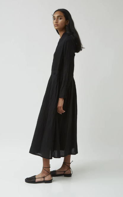 Japanese Pleated Wrap Dress