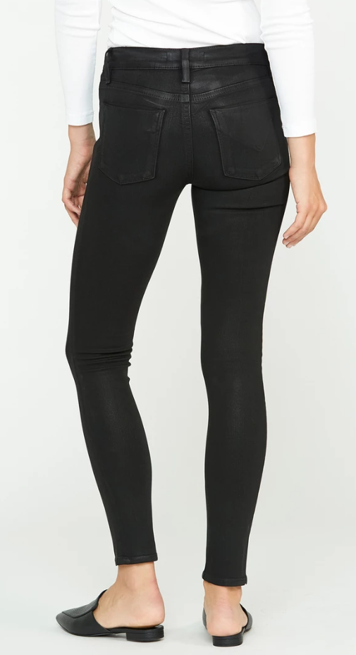 Barbara Coated High Rise Skinny