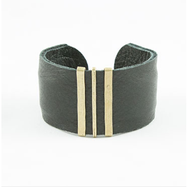 Brown/Bronze Leather Cuff