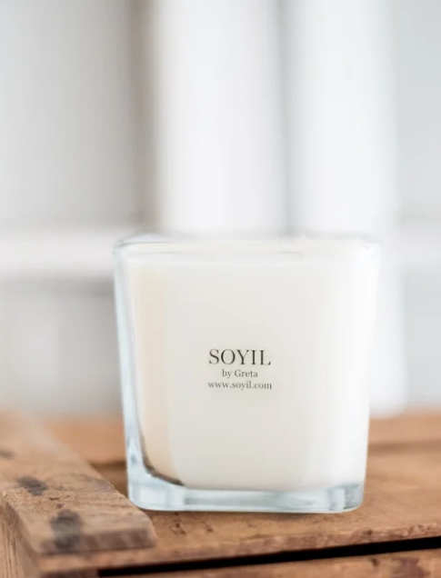 Square 2 Wick Soyil by Greta Candle