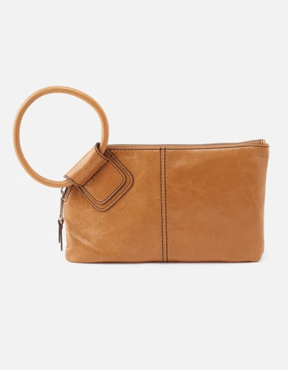 Sable Wristlet Clutch – Honey