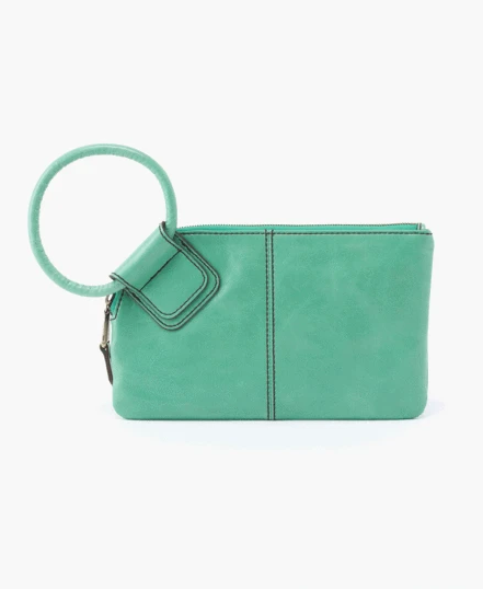 Sable Wristlet Clutch – Mint