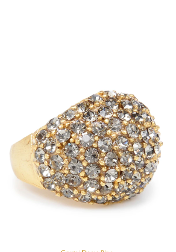 Crystal Dome Gold Ring