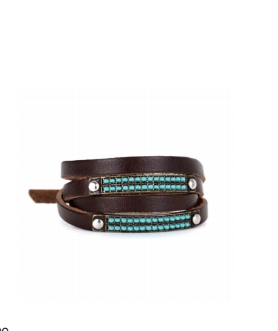 Wrap Leather Turquoise Bracelet