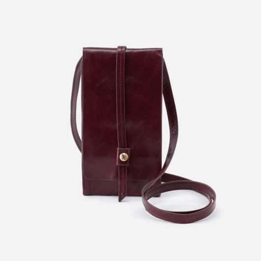 Hobo Token Deep Plum Leather Wallet Crossbody