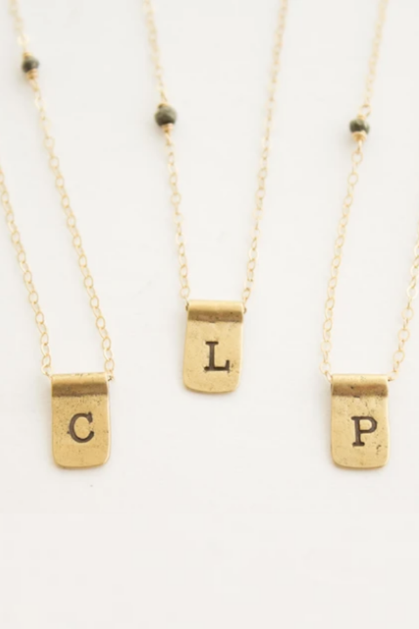 Letter Tab Necklace