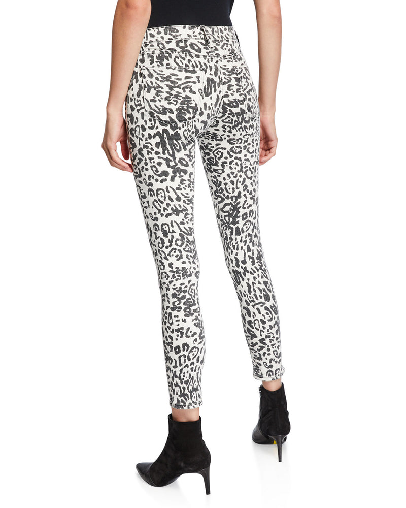 Barbara Leopard High Rise Skinny