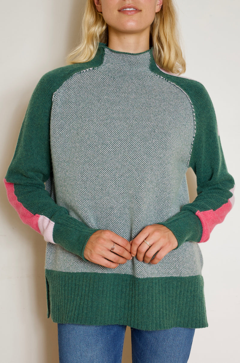 Funnel Neck Forrest Insta Sweater