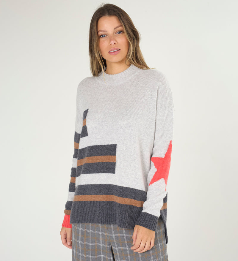 Marl Star Sweater