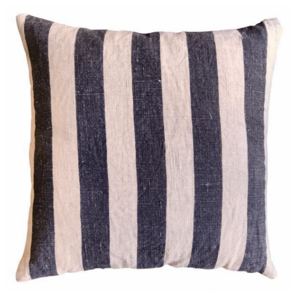 Black Stripes Pillow 24""