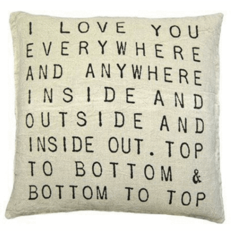 I Love You Everwhere 24in Square Pillow