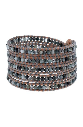 Cats Eye Crystal Mix Wrap Bracelet
