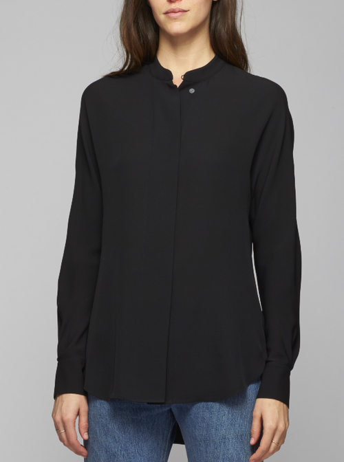 Theory Perfect Dolman Sleeve Silk Blouse