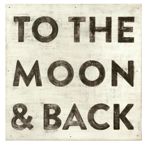 To the Moon & Back Wood Print