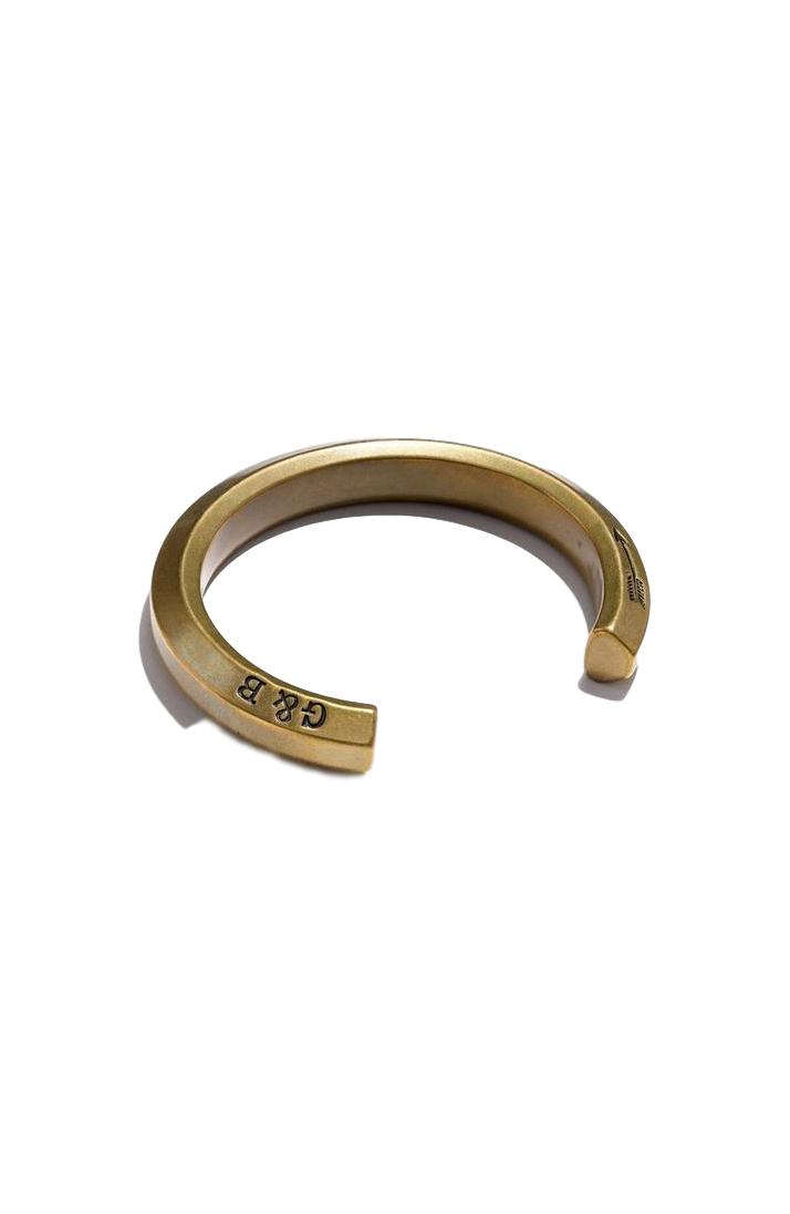 Brass Hex Cuff - Large