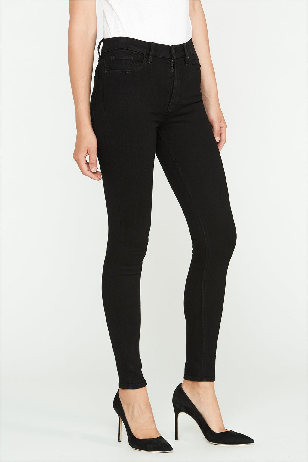 Barbara Black High Rise Skinny