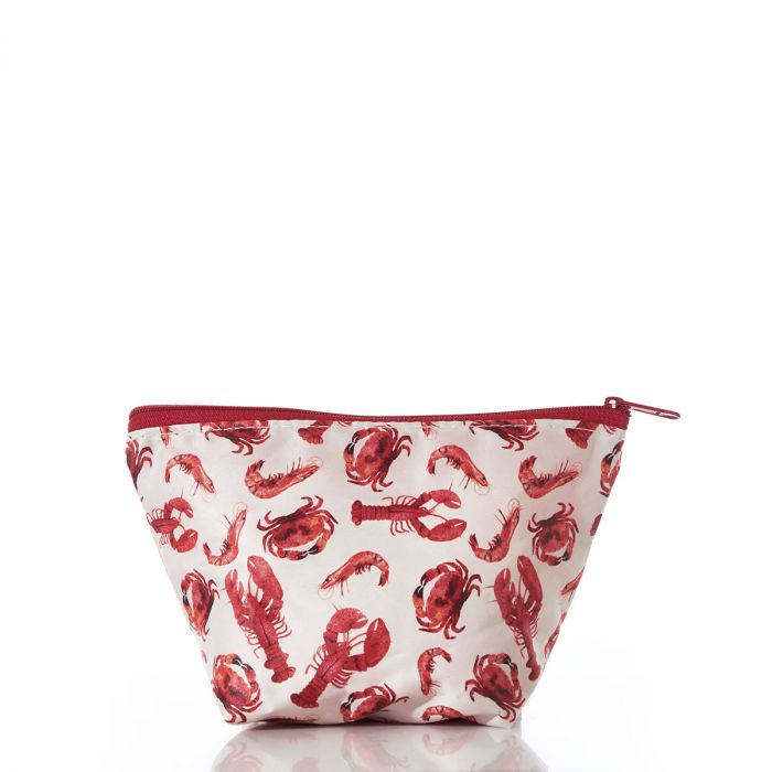 Red Shellfish Large Cosmetic Bag