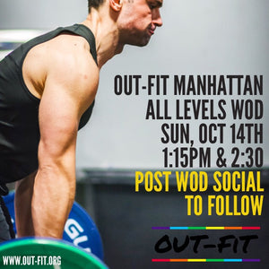 OUT-FIT Manhattan | October WOD 10.14.18