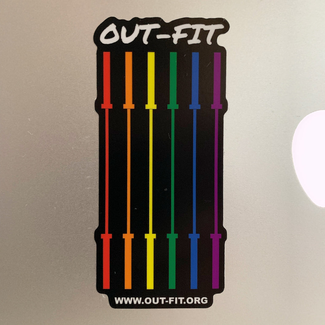 Rainbow Barbell Flag Sticker