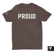Signature Proud T - White on Brown (S Only)