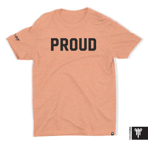 Signature Proud T - Black on Sunset