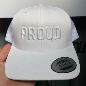 Proud Trucker Hat - White