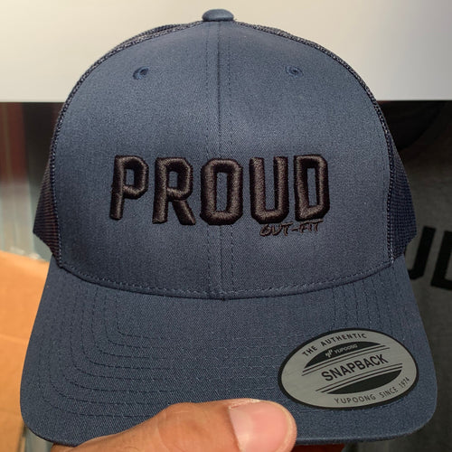 Proud Trucker Hat - Navy