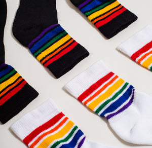 Ankle High Rainbow Socks