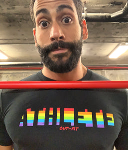 Rainbow Athlete T - Black